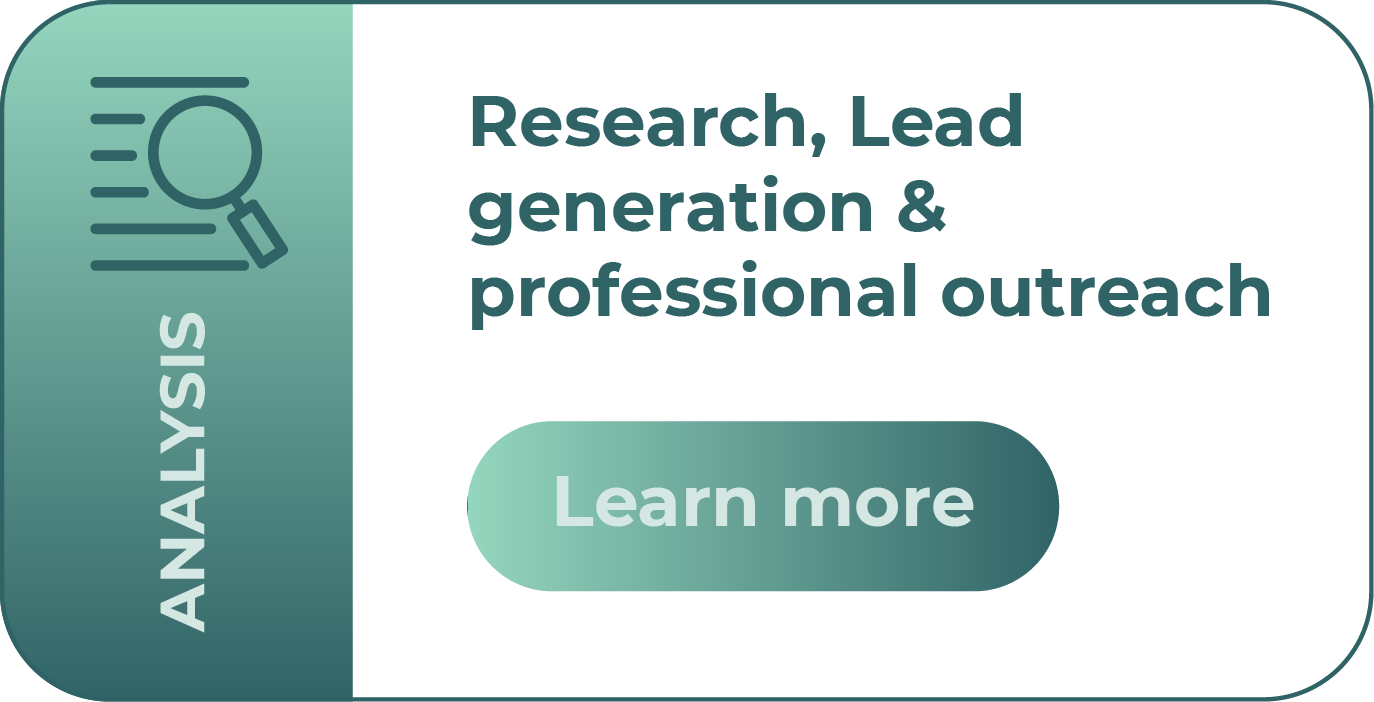 research, lead generation, professional outreach